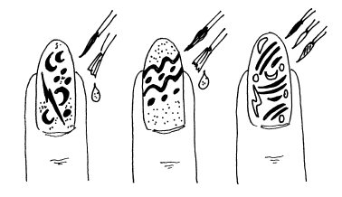 Рисунки схемы на ногтях кисточкой для начинающих схемы