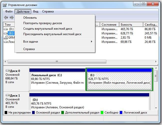 1. Работа с виртуальными жесткими дисками (VHD-файлами) в Windows 7. - FAQ по Windows Seven. Полезные советы для Windows 7 от Ni