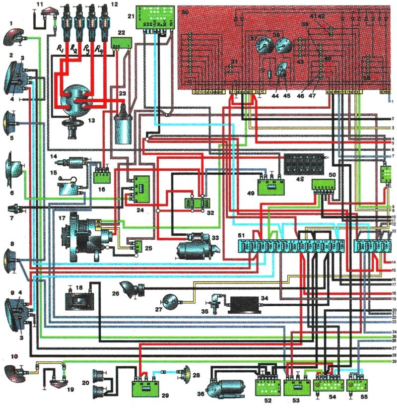 электросхема газ 3302 с змз 405